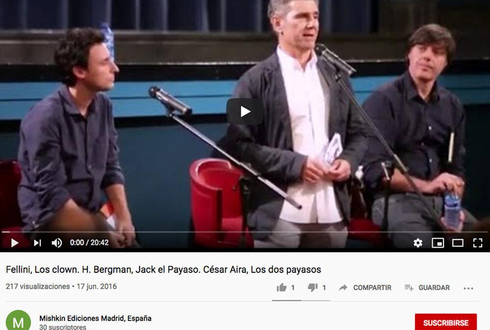 Presentacióndel libro «Jack el payazo» en el Cine Doré
