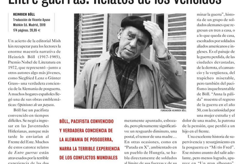 Entre guerras. Relatos de los vencidos. Ernesto Calabuig. El Cultural